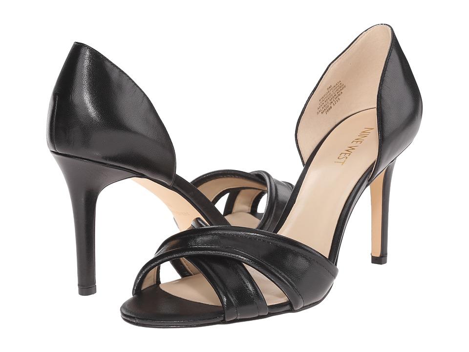 Nine West Fortunata Black Leather Womens Shoes