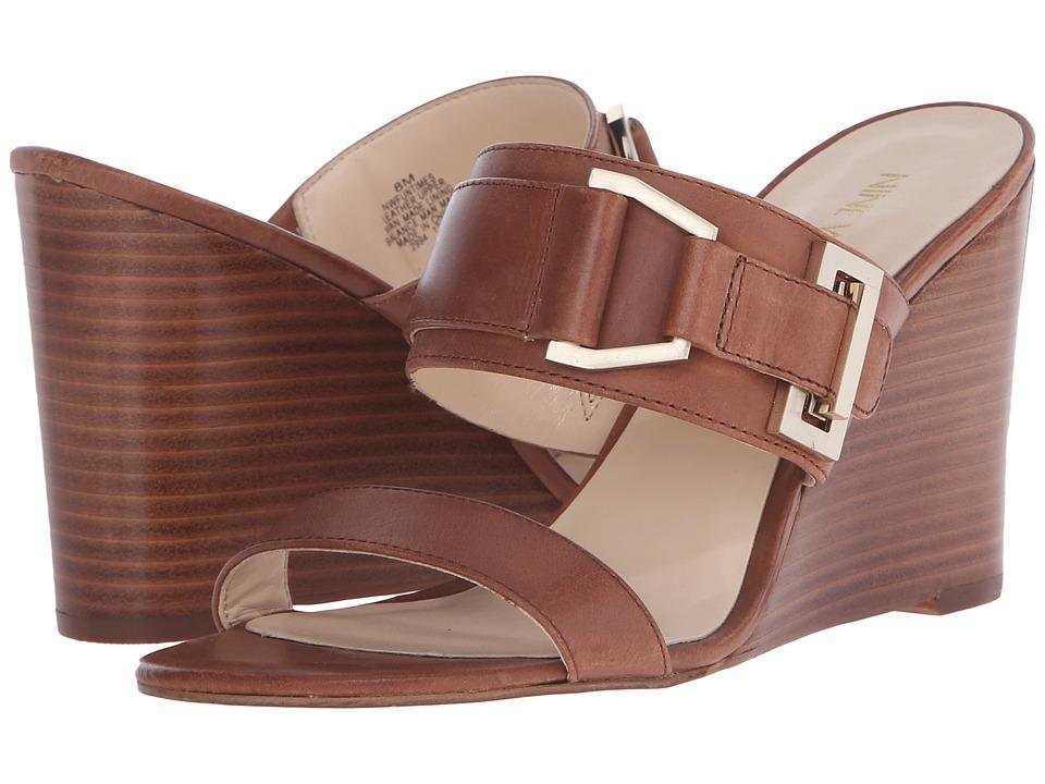 Nine West Funtimes Cognac Leather Womens Shoes