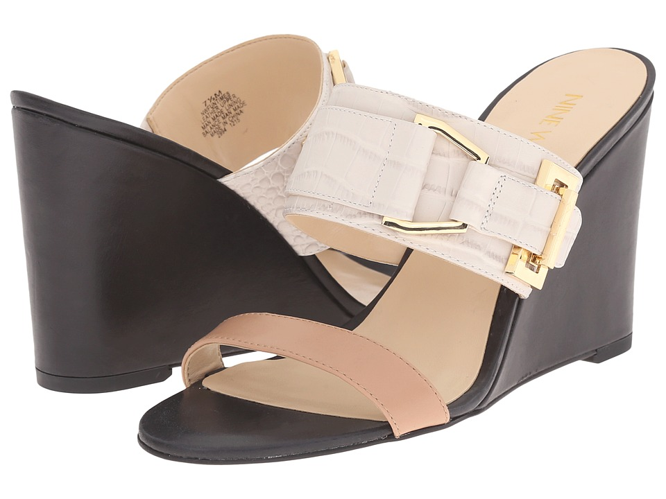 Nine West Funtimes Off White Multi Croco Womens Shoes