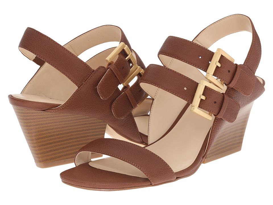 Nine West Gadele Cognac Leather Womens Shoes