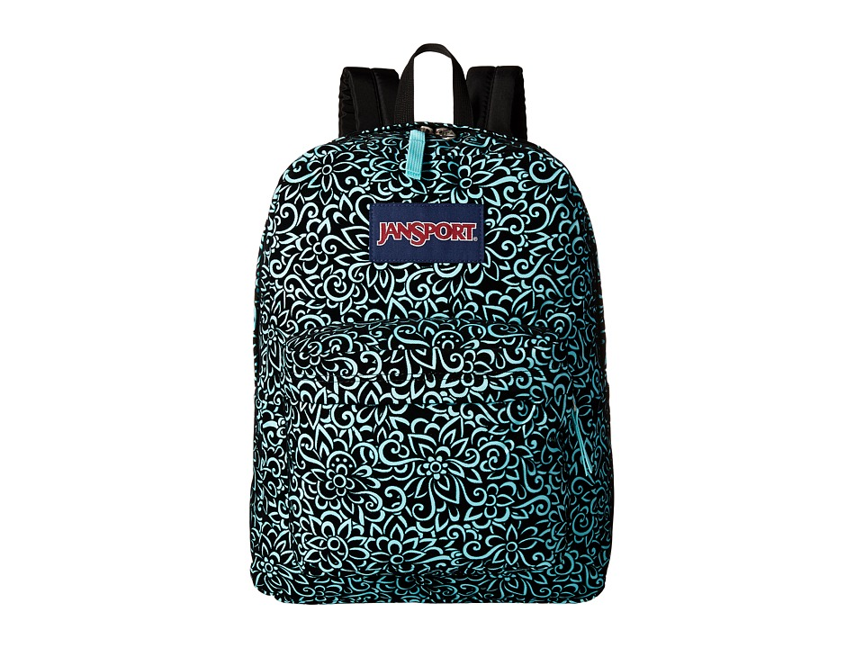 JanSport High Stakes Aqua Dash Water Lotus Backpack Bags