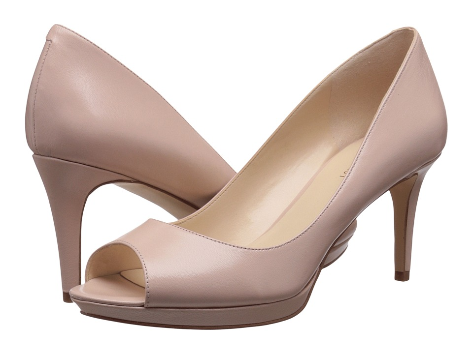 Nine West Gelabelle Light Natural Leather Womens Shoes