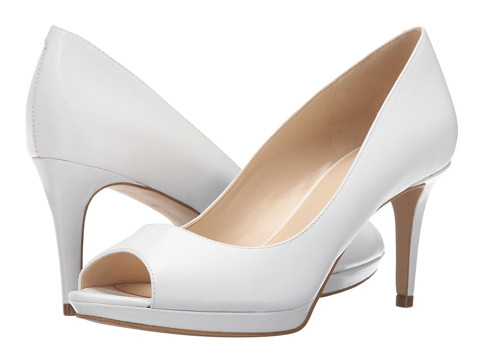 Nine West Gelabelle White Leather Womens Shoes