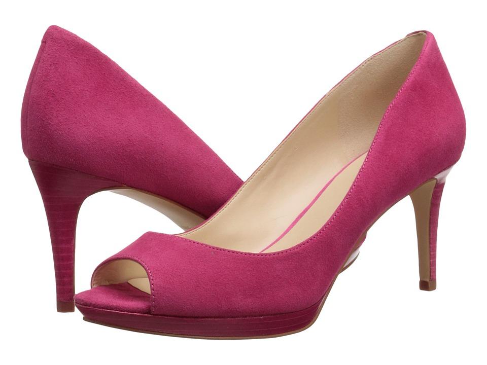 Nine West Gelabelle Dark Pink Suede Womens Shoes