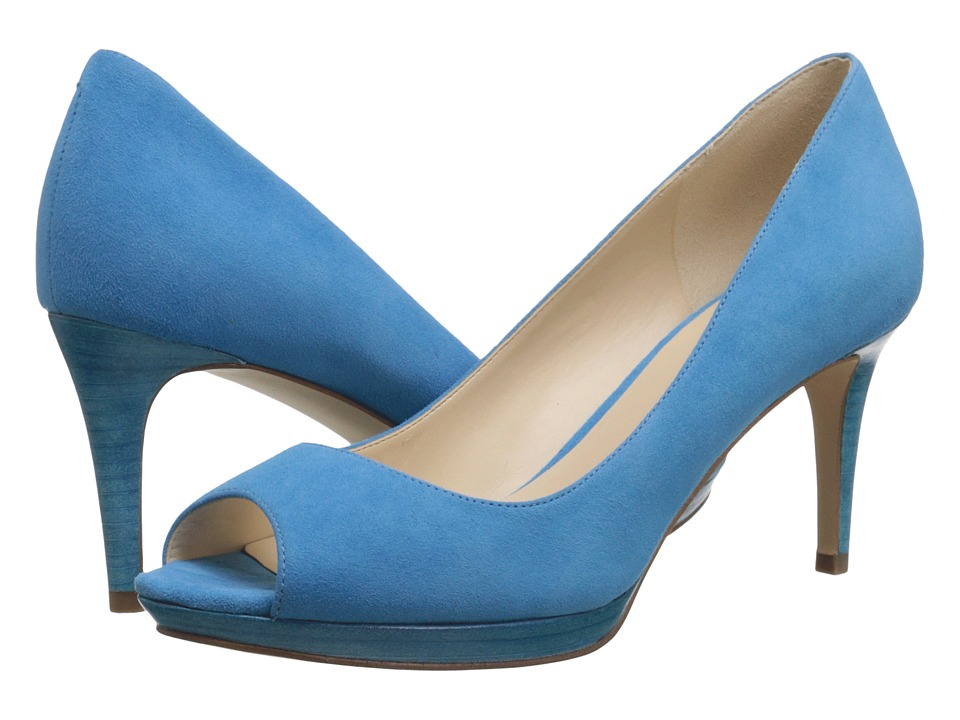 Nine West Gelabelle Turquoise Suede Womens Shoes