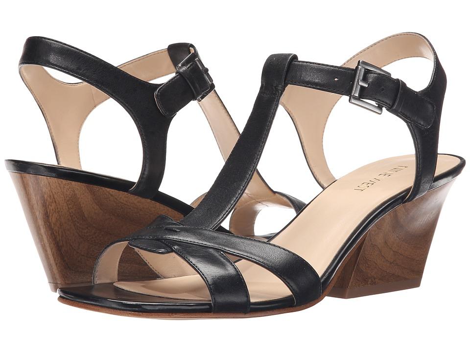 Nine West Geralda Black Leather High Heels