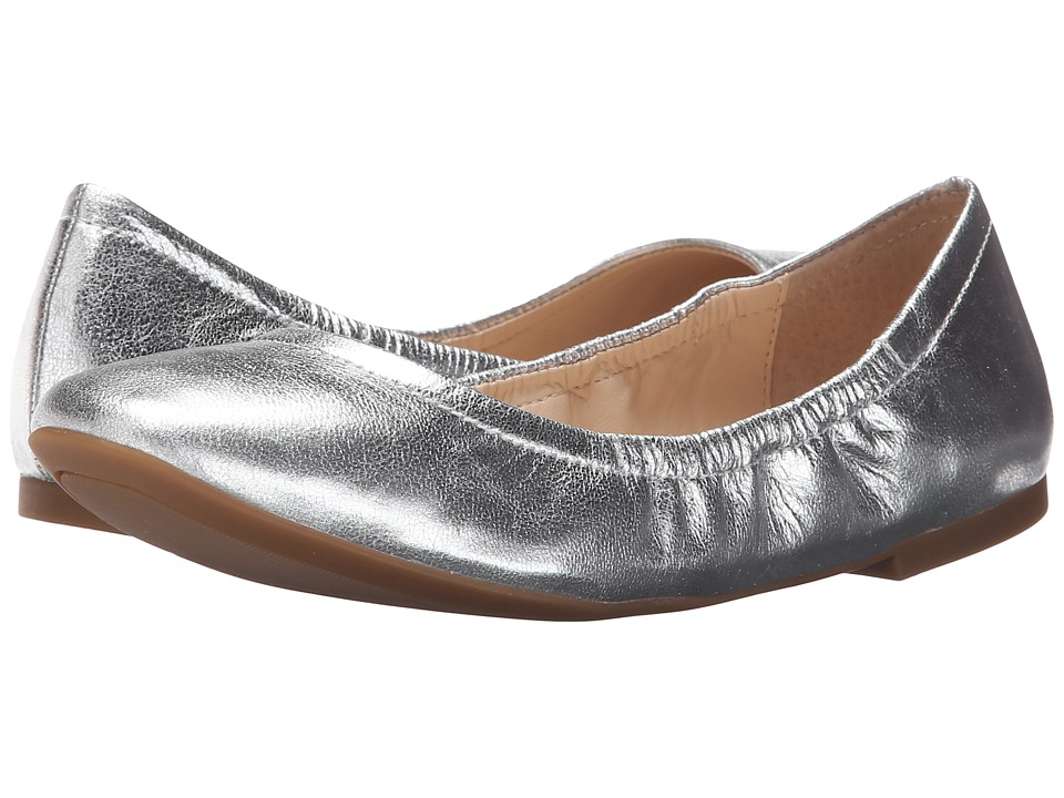 Nine West Girlsnite Silver Metallic Womens Flat Shoes