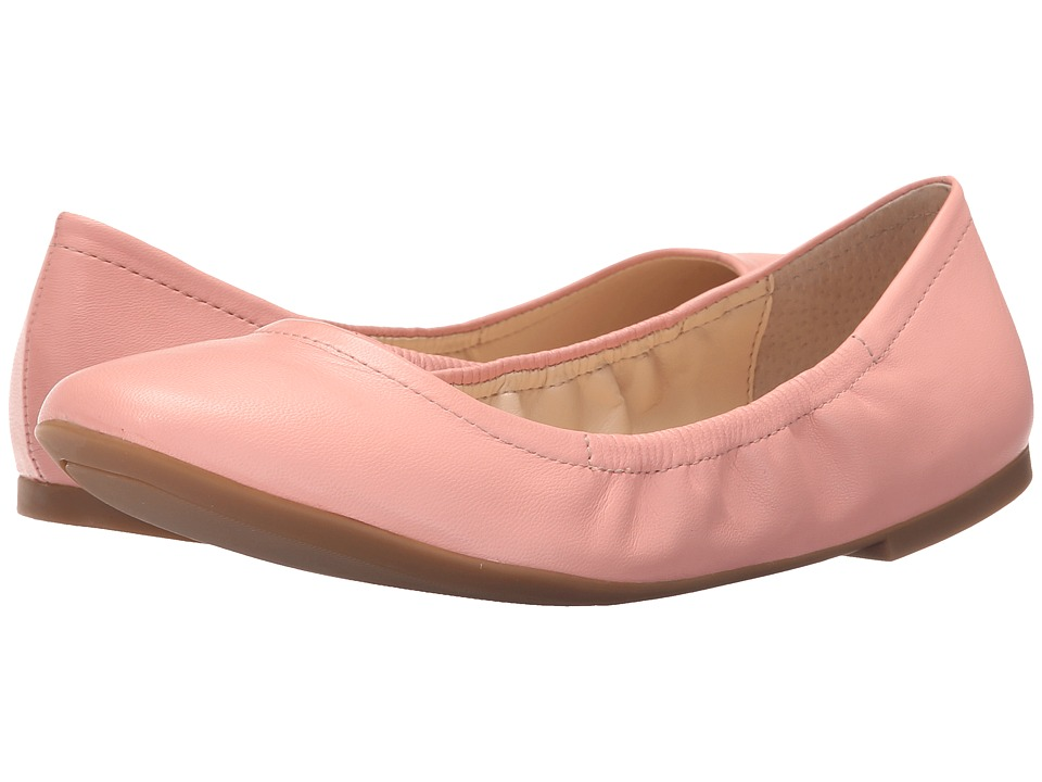 Nine West Girlsnite Pink Leather Womens Flat Shoes