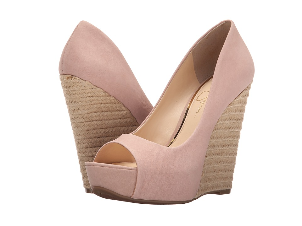 Jessica Simpson Bethani Nude Blush Elko Nubuck Womens Wedge Shoes