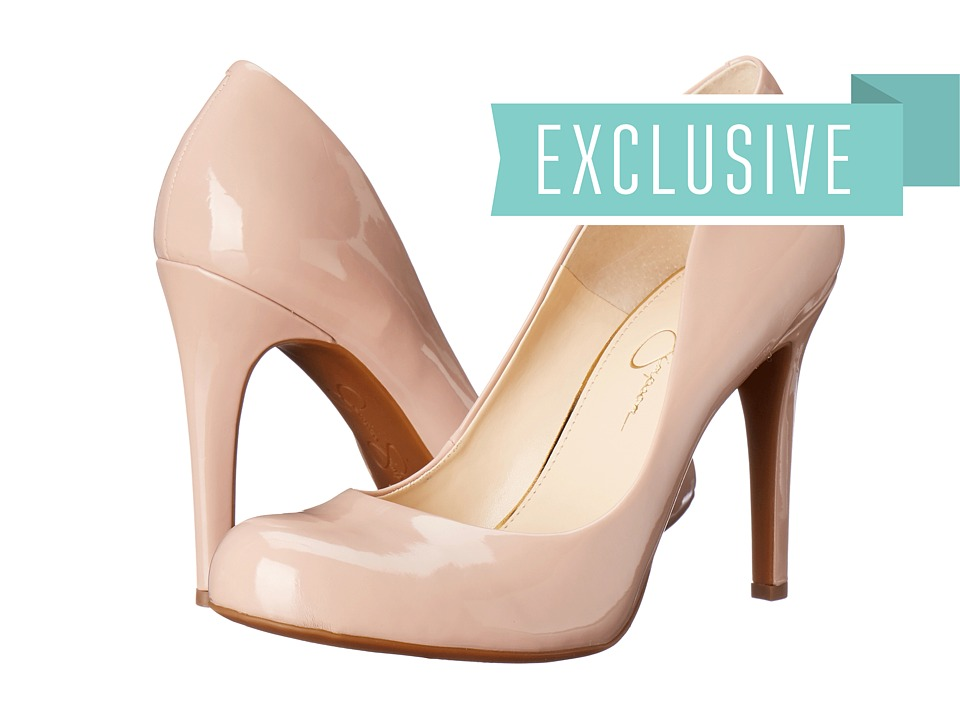 Jessica Simpson Calie Nude Blush Patent High Heels