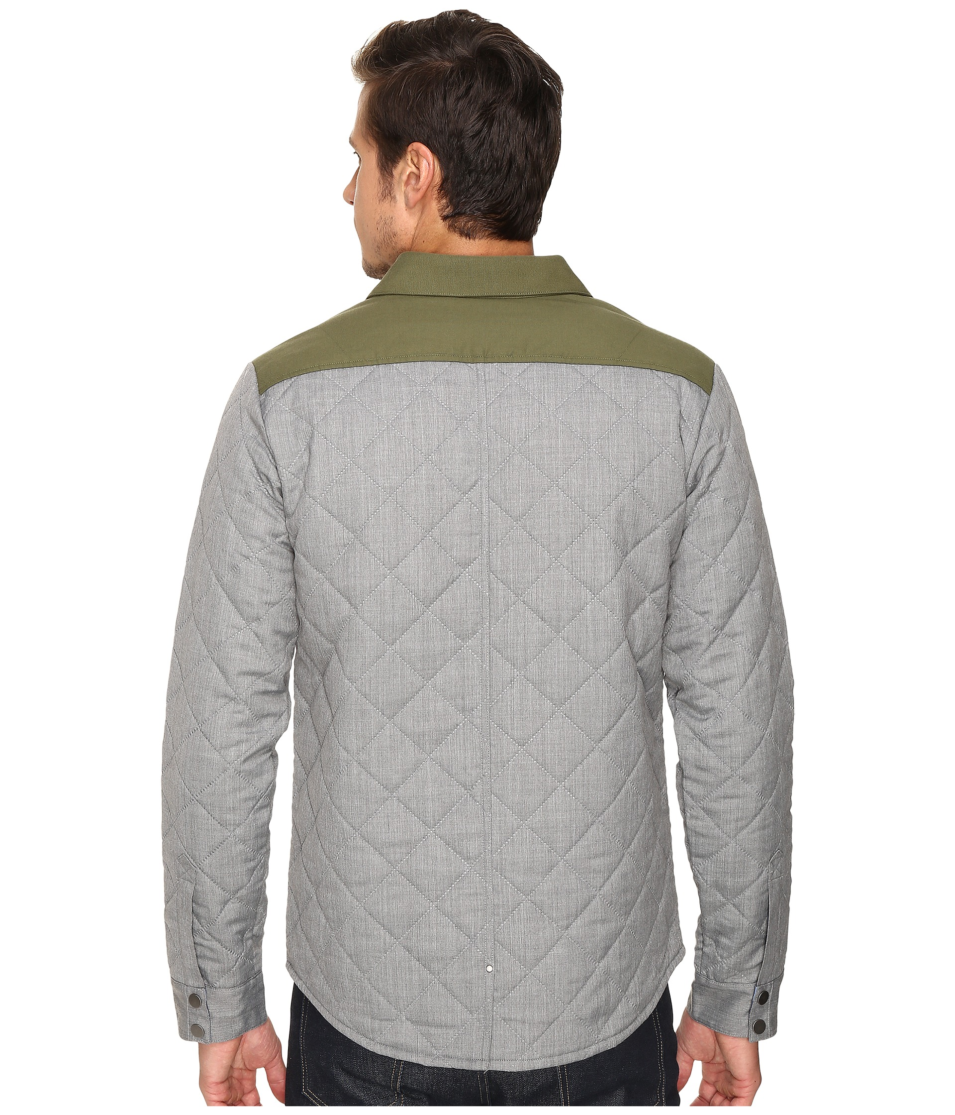 Smartwool Summit County Quilted Shirt Jacket Light Gray