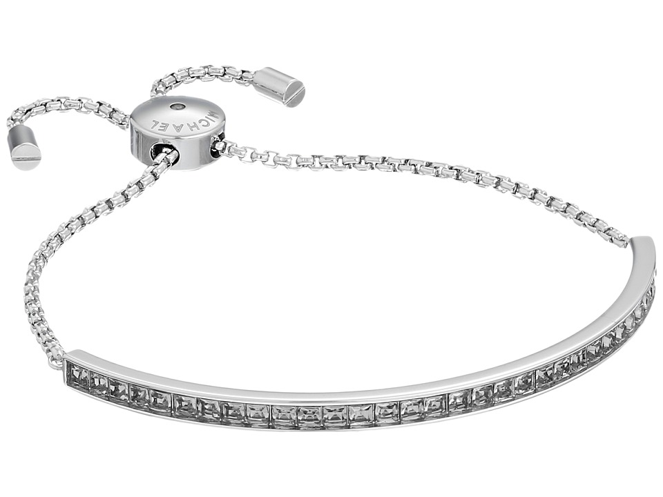Michael Kors Adjustable Slider Bracelet Silver/Grey Cubic Zirconium Bracelet