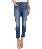 7 For All Mankind - Lattice Pocket Ankle Skinny in Authentic Washed Indigo