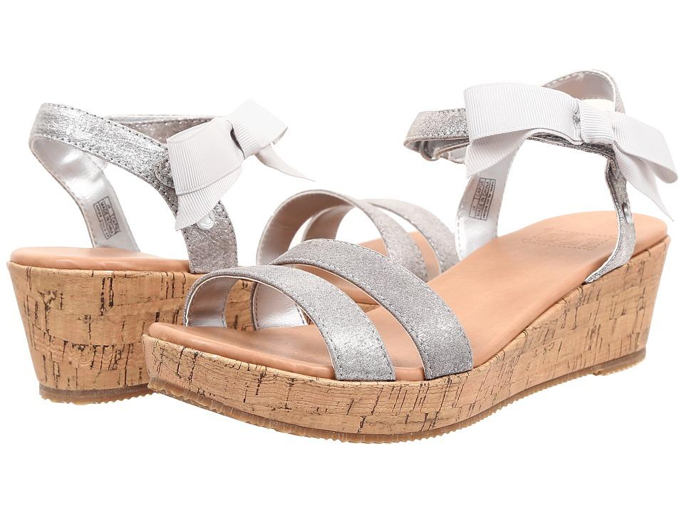 UGG Kids I Heart Joblyn Crackle Little Kid/Big Kid Silver Textile Girls Shoes