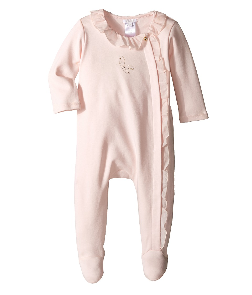 Chloe Kids Cotton Bodysuits with Ruffles Infant Light Pink Girls Jumpsuit Rompers One Piece