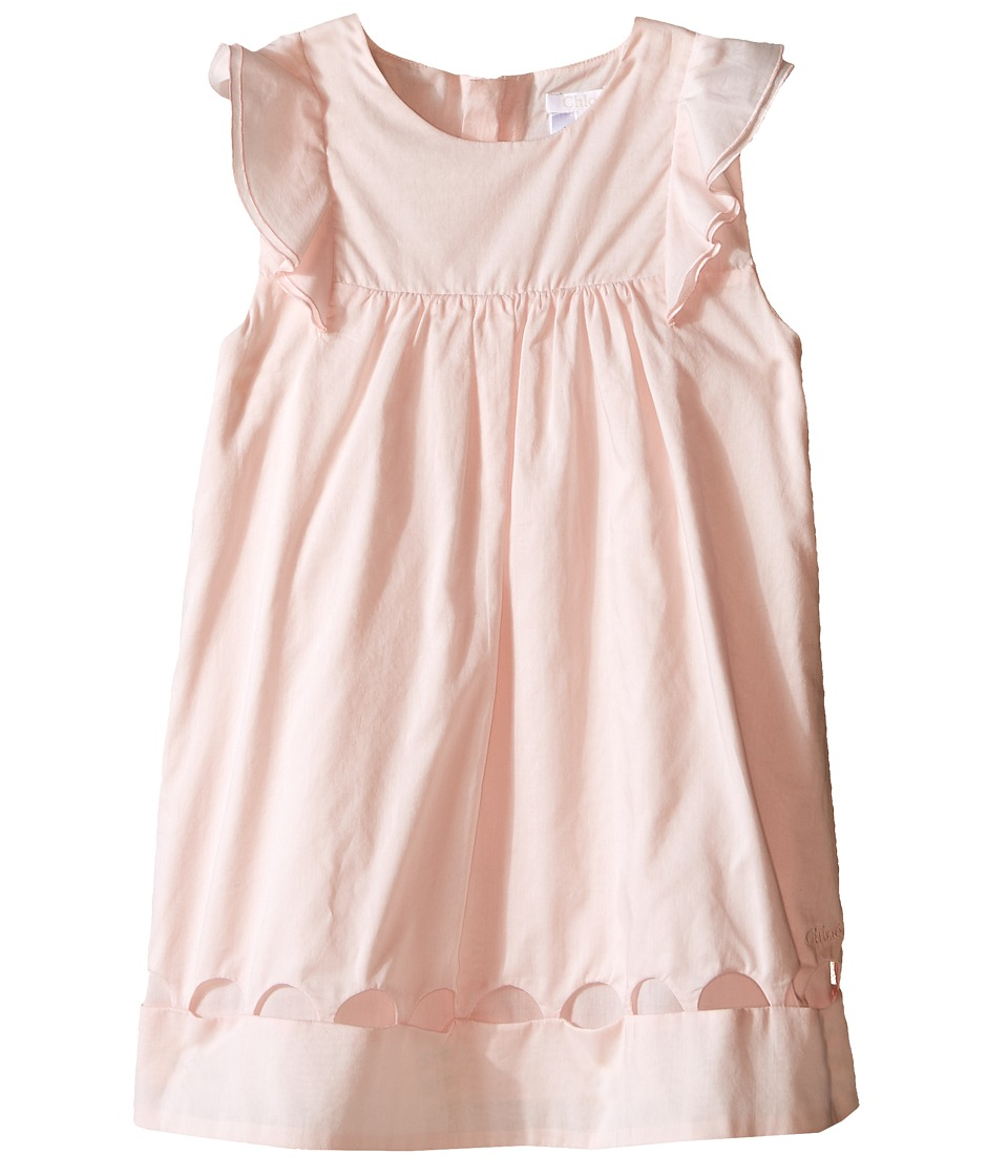 Chloe Kids Dress with Percale Details Infant Light Pink Girls Dress