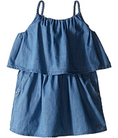 Chloe Kids - Light Denim Style Dress with Braided Straps (Toddler/Little Kids)