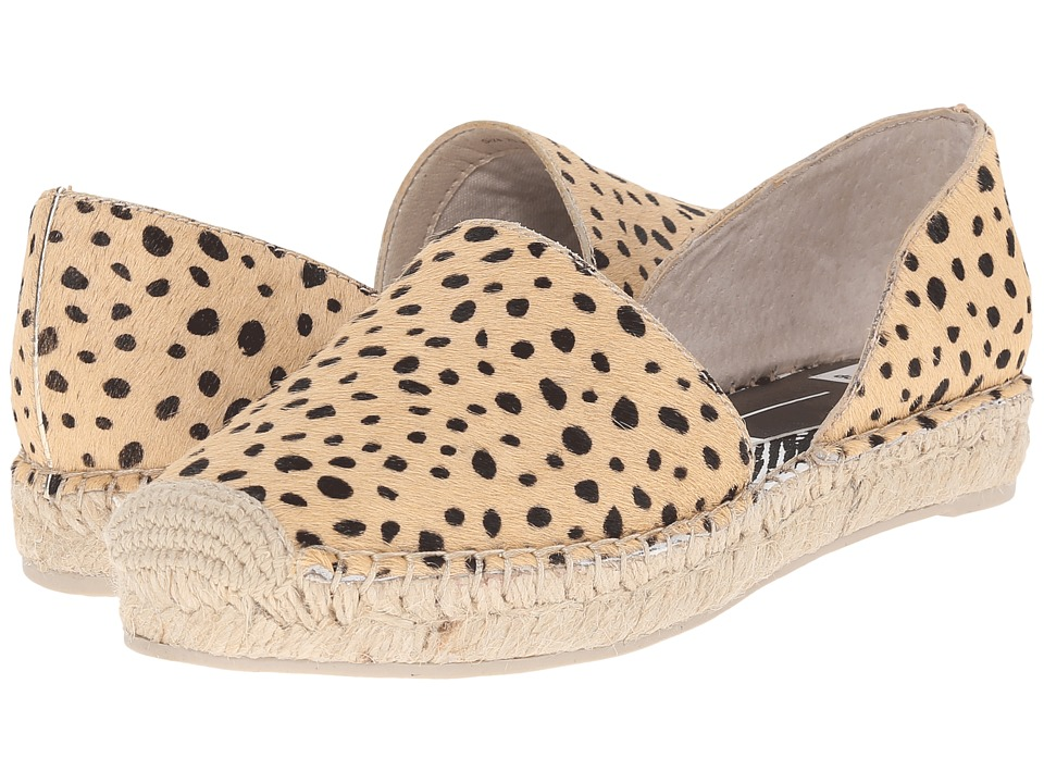 Dolce Vita Ciara Leopard Calf Hair Womens Flat Shoes