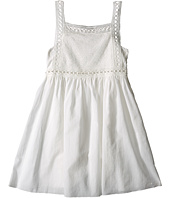 Chloe Kids - Cotton Crepe Couture Dress Embroidery Under Cover (Little Kids/Big Kids)