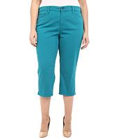 NYDJ Plus Size - Plus Size Ariel Crop w/ Slit in Turquoise