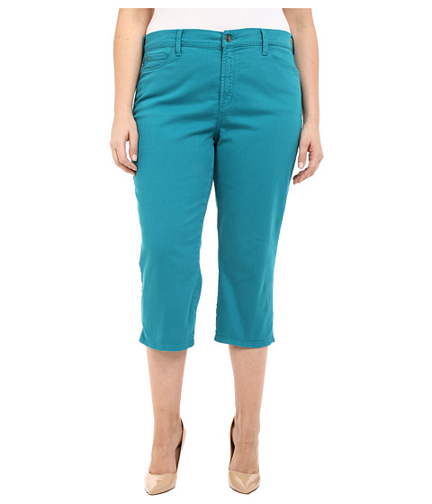 NYDJ Plus Size Plus Size Ariel Crop w/ Slit in Turquoise