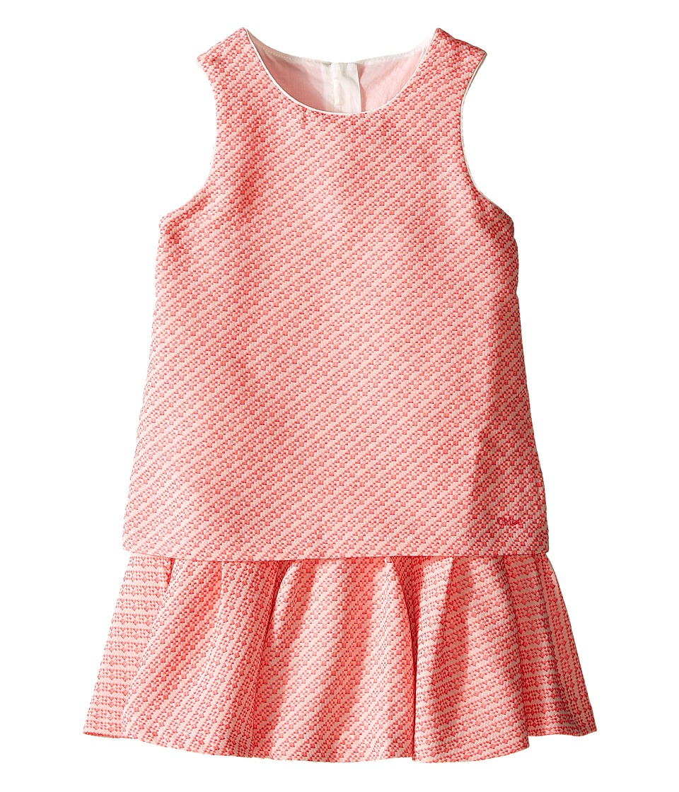 Chloe Kids Fancy Tweed Dress Little Kids/Big Kids Pink Girls Dress