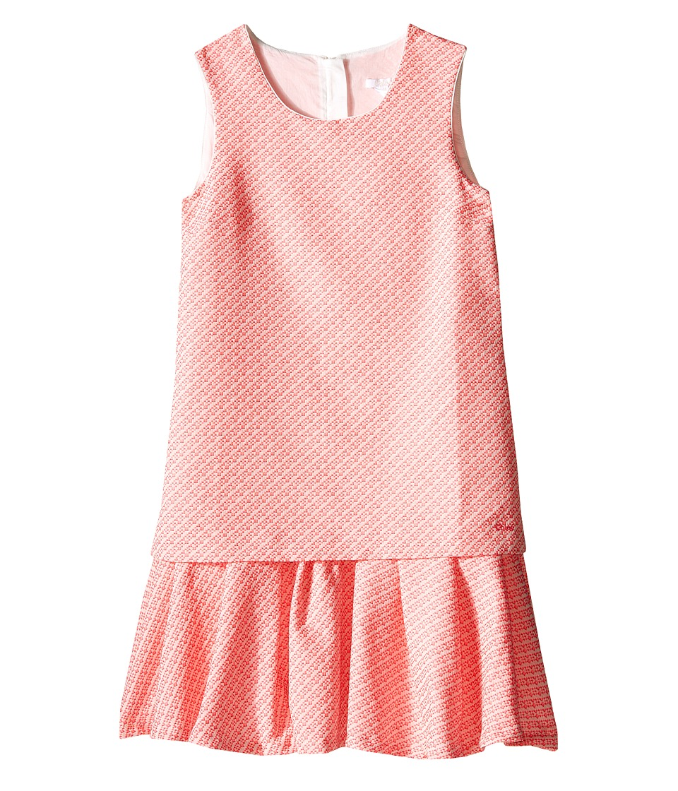 Chloe Kids Fancy Tweed Dress Big Kids Pink Girls Dress