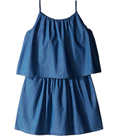 Chloe Kids - Light Denim Style Dress with Braided Straps (Big Kids)