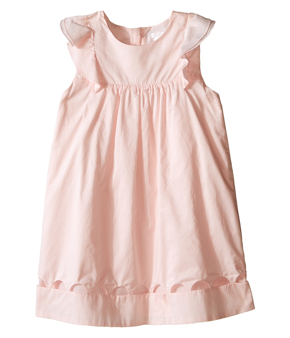Chloe Kids Dress with Percale Details Toddler Light Pink Girls Dress