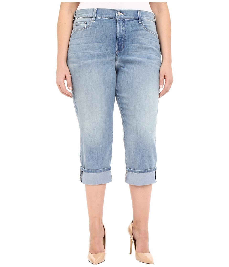 NYDJ Plus Size Plus Size Dayla Wide Cuff Capris Manhattan Beach Womens Capri