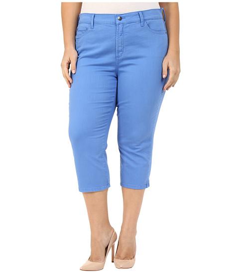 NYDJ Plus Size Plus Size Ariel Crop w/ Slit in Regatta Blue