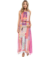 Hale Bob - Mix Master Silk Maxi Dress with Belt