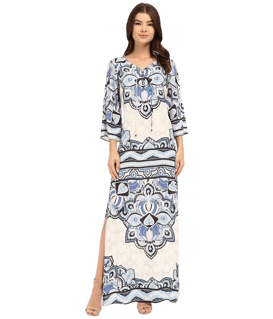 Hale Bob Color Code Caftan Denim Womens Dress