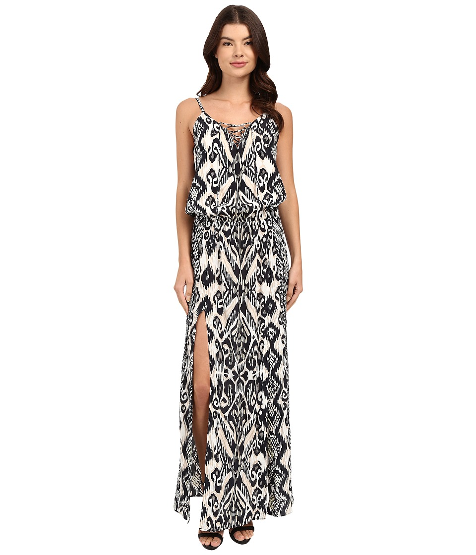 Hale Bob Devils Advocate Cami Maxi Dress Black/White Womens Dress