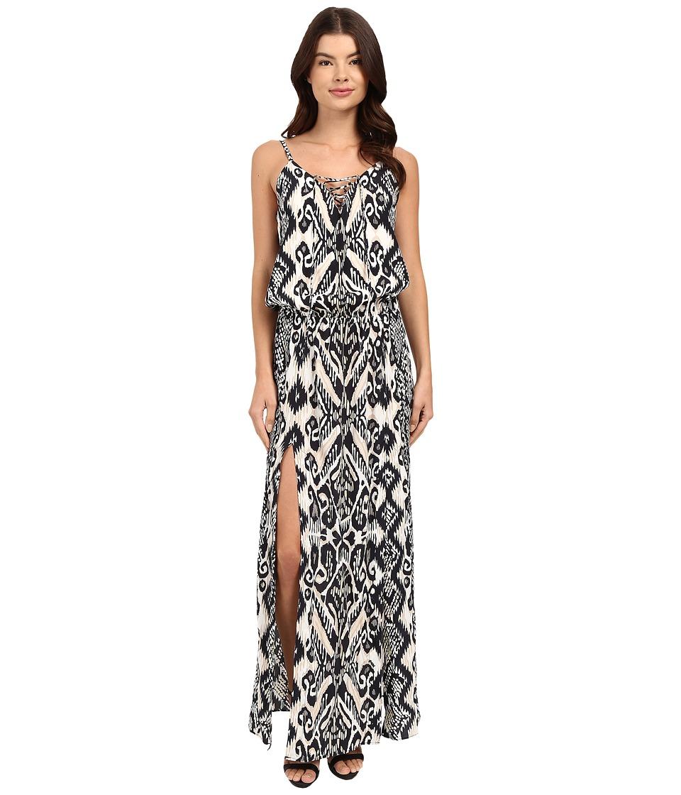 Hale Bob Devils Advocate Cami Maxi Dress Black/White Womens Dress