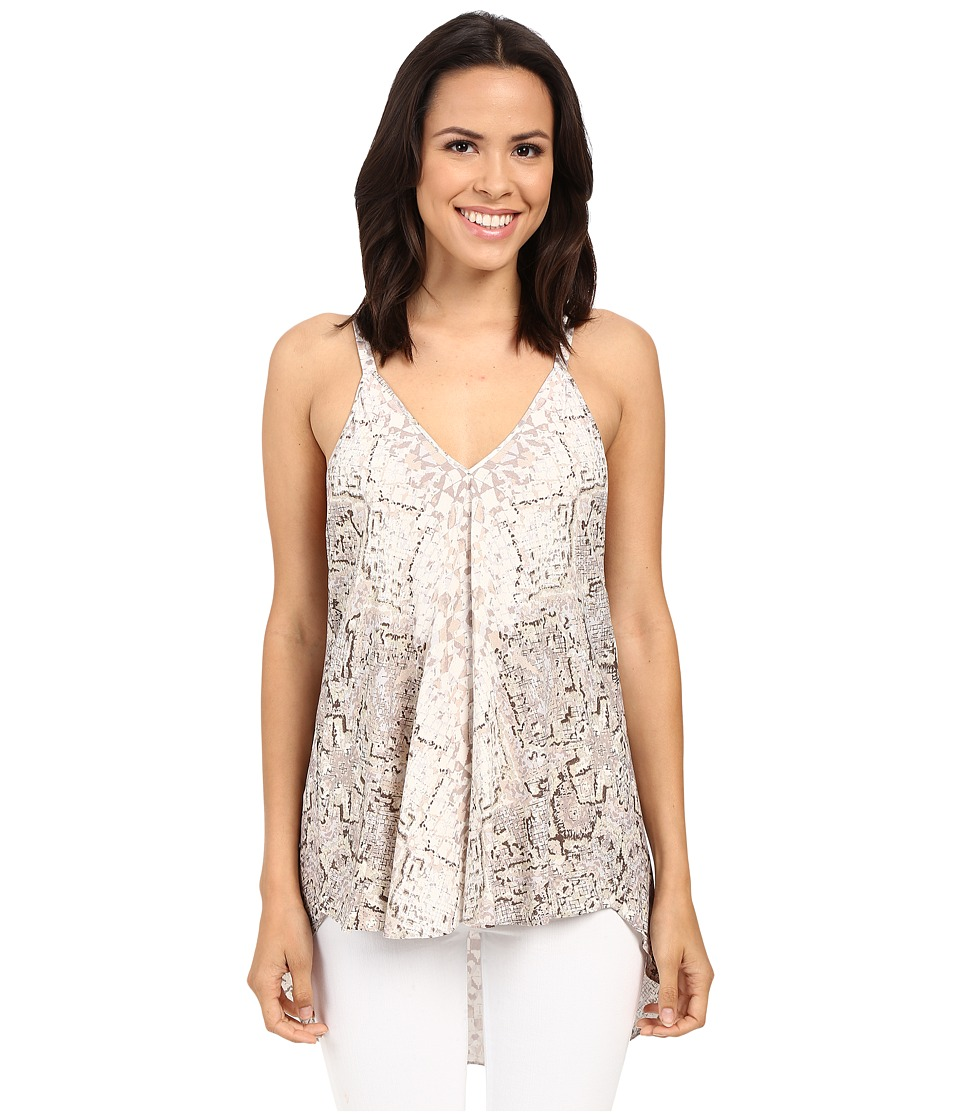 Hale Bob All That Glitters Tank Top Taupe Womens Sleeveless