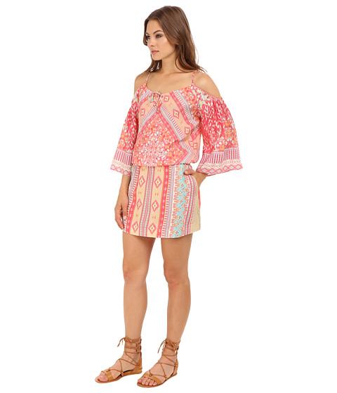 girls cold shoulder dress class coral