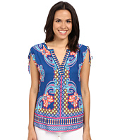 Hale Bob - Take Your Pick Top w/ Drawstring Detail at Shoulder