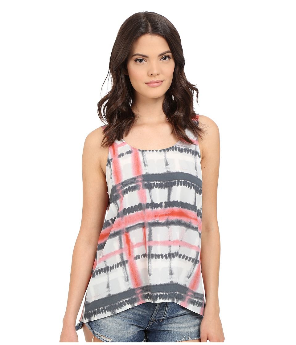 Jack by BB Dakota Adelia Tie Dye Plaid Top Multi Womens Clothing