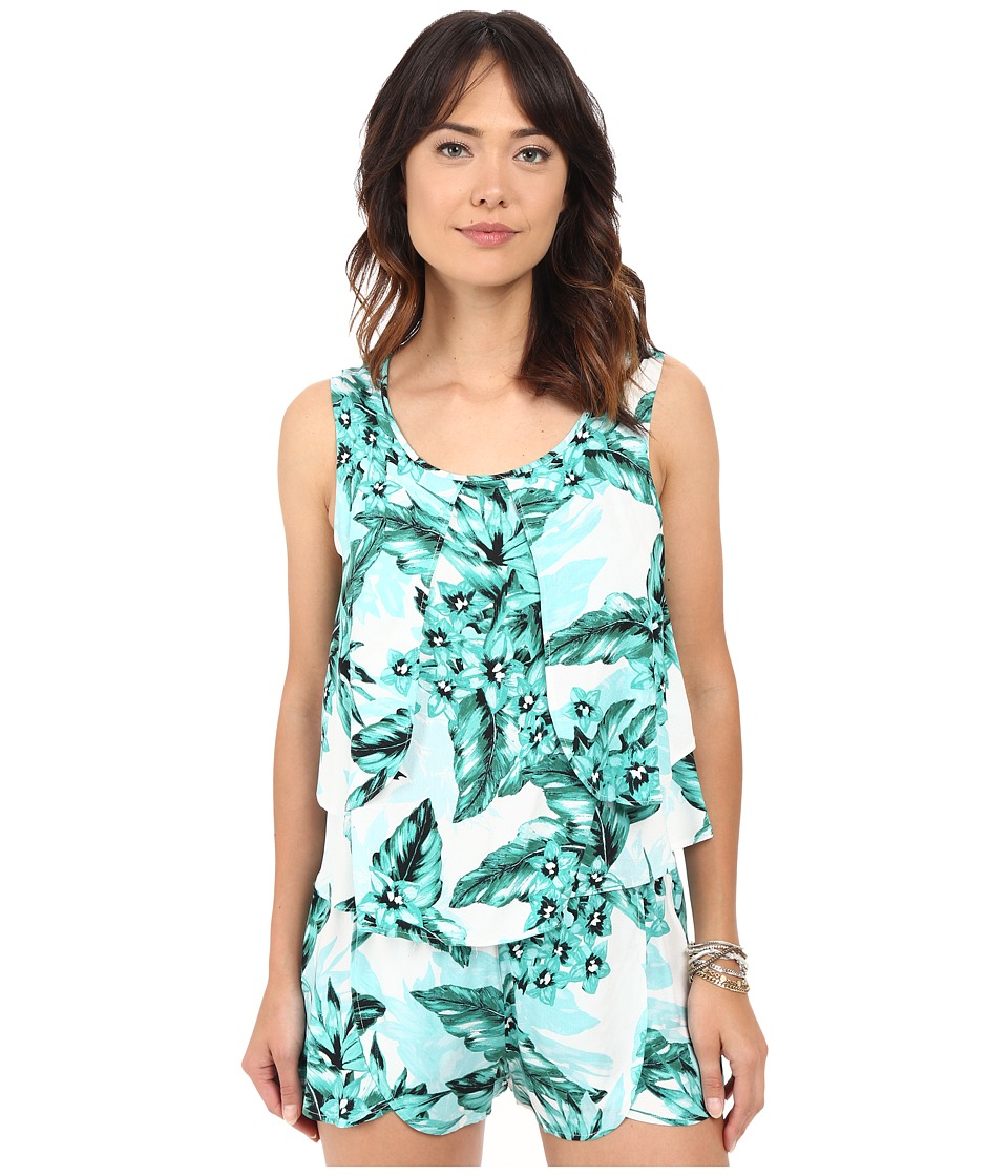 Jack by BB Dakota Barnabus Tropical Bliss Printed Rayon Crepe Top Multi Womens Clothing
