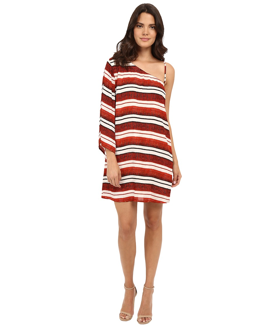 Jack by BB Dakota Bryanne Beach Blanket Stripe Printed Crinkle Rayon Dress Multi Womens Dress