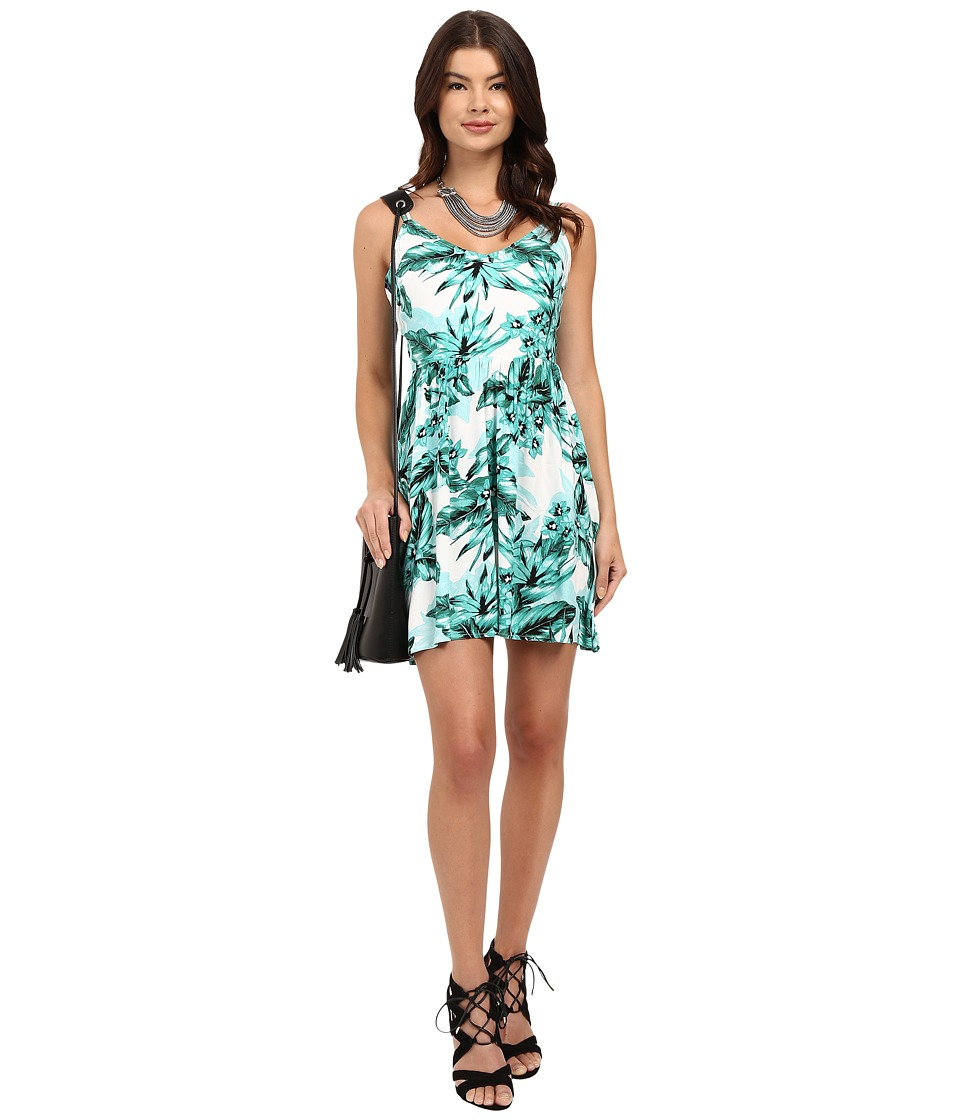 Jack by BB Dakota Brittania Tropical Bliss Printed Rayon Crepe Dress Multi Womens Dress