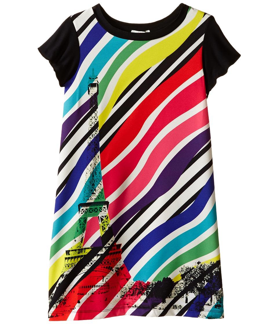 Junior Gaultier Sabha Striped Neon Dress Big Kid Ecru Girls Dress