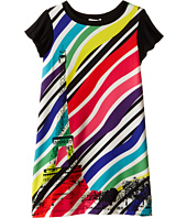 Junior Gaultier - Sabha Striped Neon Dress (Big Kid)