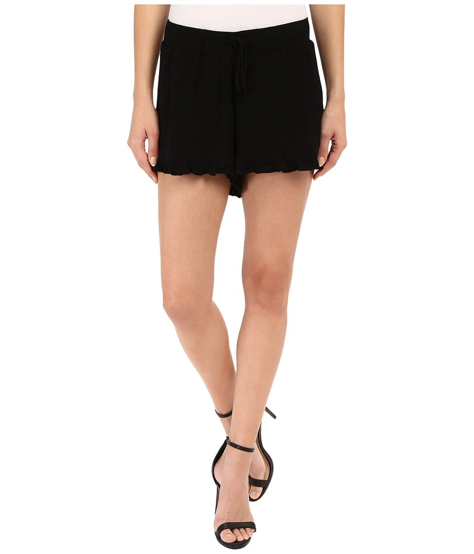 Jack by BB Dakota Bailee Crinkle Rayon Drawstring Shorts Black Womens Shorts
