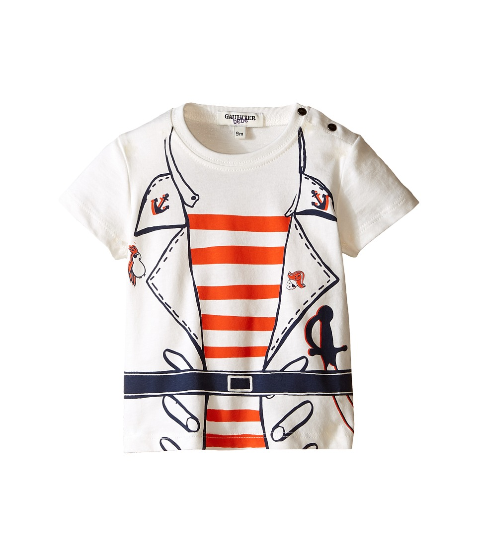 Junior Gaultier Salif Pirate T Shirt Infant/Toddler Marine Blue Boys Short Sleeve Pullover