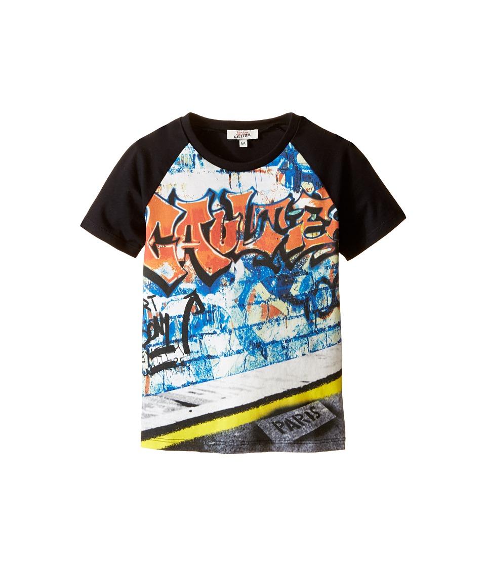 Junior Gaultier Severin T Shirt Toddler/Little Kid Black Boys Short Sleeve Pullover
