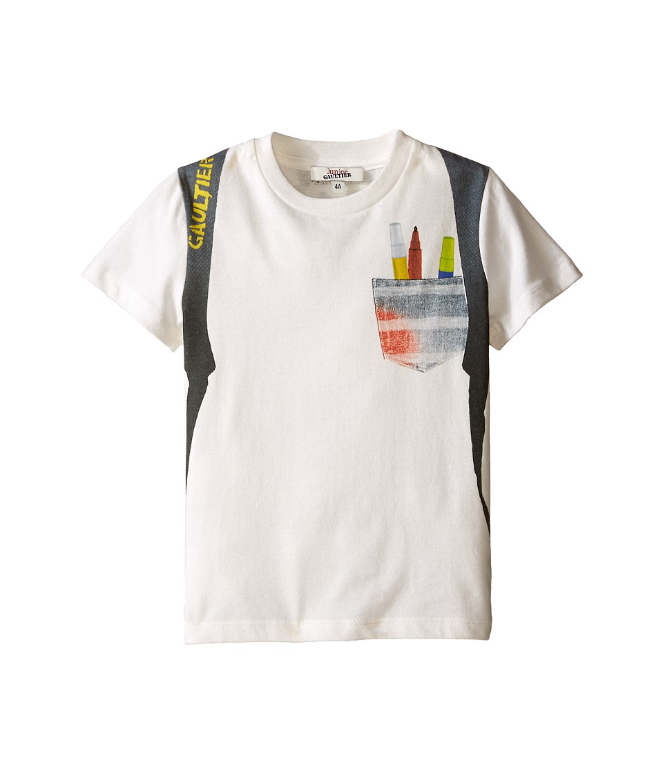 Junior Gaultier Sidali Backpack T Shirt Toddler/Little Kid Black Boys T Shirt