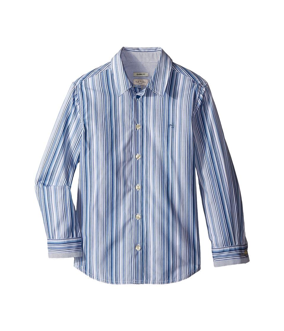 Paul Smith Junior Blue/White Striped Shirt Toddler/Little Kids White Boys Clothing