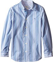 Paul Smith Junior - Blue/White Striped Shirt (Big Kids)